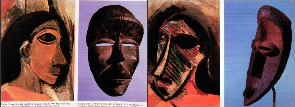 masque africain les demoiselles d'avignon